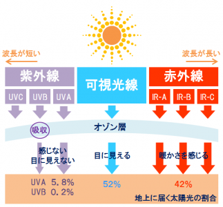 紫外線 3種類