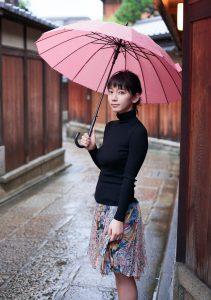 京都の街と吉岡里帆