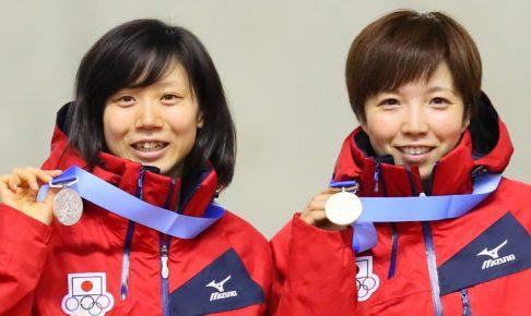 小平奈緒、高木美帆ダブル表彰台