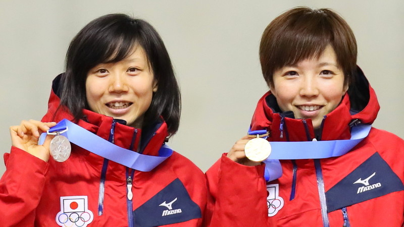小平奈緒は銀、高木美帆は銅でダブル表彰台【スピードスケート女子1000m】