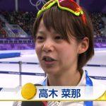 高木菜那 初代女王金メダル